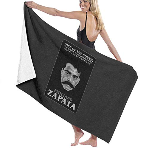 U/K Emiliano Zapata – Men of the South It Is Better To Die On Your Feet Than To Live On Your Knees Toalla de baño de secado rápido
