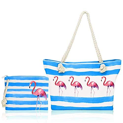 Bolsa de Playa para Mujer - Bolsa de Playa de Lona Grande,Totalizador de Lona de Verano bolsa de lona para el hombro bolsa de compras niña Mujer bolsa de viaje