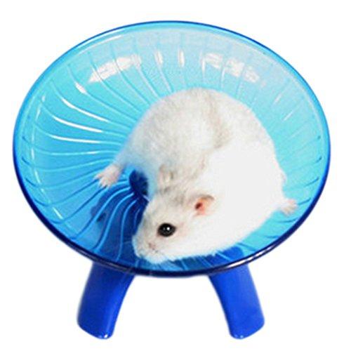 LAAT Hamster Fliegende Untertasse Pet Wheel Fly Toys Ratte Laufscheibe Fliegende Untertasse Rennmauskäfig für Kleintiere (Blau)
