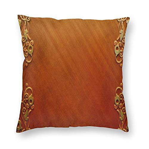 FULIYA Juego de fundas de cojín de algodón para el hogar, sofá, silla, 45 x 45 cm, diseño cuadrado, para fondo, superficie, madera