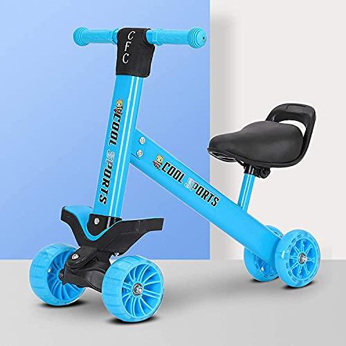 LINQ Triciclo para niños de 3 Ruedas: Truco para 3 años de Edad, sillín Ajustable del Cuerpo de Acero al Alto de Carbono, Adecuado para niños Mayores de 3 años, Azul (Color : Blue)