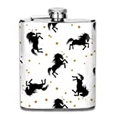 7OZ Stainless Steel Flask, Funny Unicorns 1 Pattern Hip Flask, Flasks For Mens And Womens