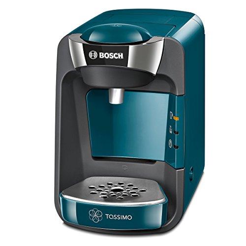 Bosch TAS3205 Tassimo Suny Kapselmaschine, über 70 Getränke, vollautomatisch, geeignet für alle Tassen, nahezu keine Aufheizzeit, 1300 W, blau/anthrazit