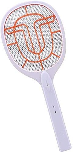 MXA Elektrische Muggen Swatter Vliegende Vliegen Racket Anti-Muggen Vlieg Insect Lithium Batterij Usb Oranje