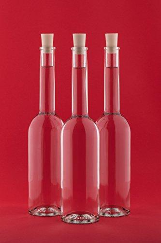 12 leere Glasflaschen 200ml OPI mit Spitzkorken Verschluss 0,2l Liter Likörflaschen Schnapsflaschen Essigflaschen Ölflaschen Höhe 23 cm, von SLK GmbH