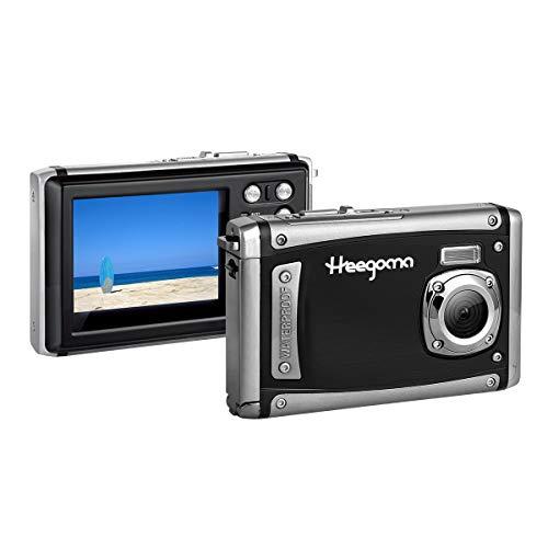 """Cámara Digital a Prueba de Agua Heegomn para niños, videocámara subacuática de 10 pies, Zoom Digital de 16 MP / 8X / 1080P FHD / 2.31""""TFT LCD"""