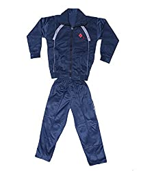 Indistar Boys Winter Special Track Pants and Track Jacket(Tracksuit) Blue