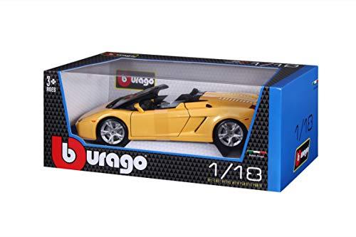 Bburago - 12016O - Véhicule Miniature - Modèle À L'Échelle - Lamborghini Gallardo Spyder - 2004 - Echelle 1/18