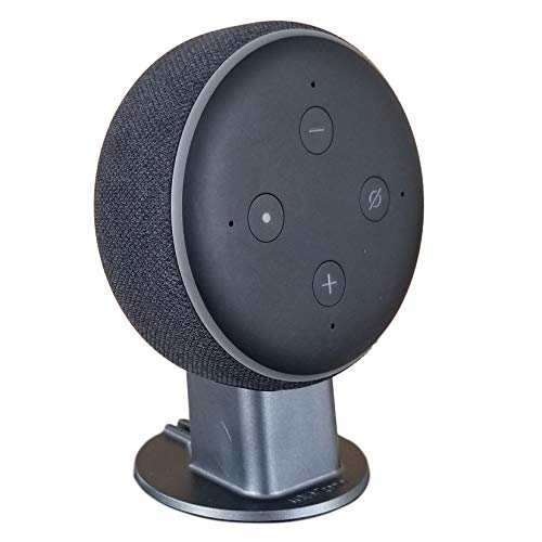 Mount Genie Dot 3rd Generation Pedestal Table Holder   Improves Sound Visibility and Appearance   Designed in USA (Charcoal)