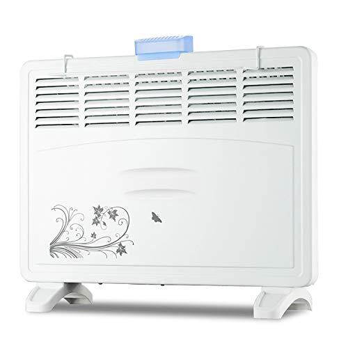 Convecteur Chauffage-Fixé au Mur ou au Sol Sécurité Thermique Couper Caractéristique Économie d'énergie Radiateur de Salle de Bains Silencieux - pour la Maison et Le Bureau (1000w / 2000w)