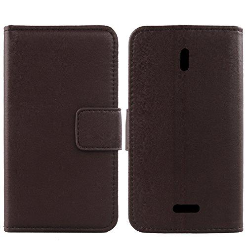 Gukas Design Echt Leder Tasche Für Archos 50 Saphir 5