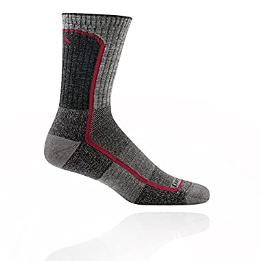 Darn Tough Light Hiker Micro Crew Light Cushion Socks - Men's Smoke/Cranberry X-Large