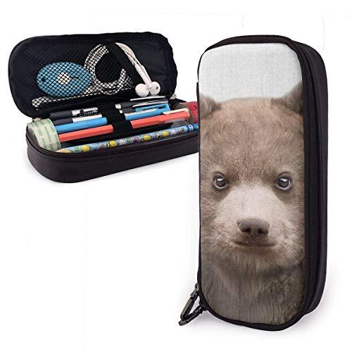Baby Bear Colorido Estuche para lápices Estuche para lápices de gran capacidad Organizador de papelería con cremallera para la escuela, Estuche de maquillaje cosmético multifunción