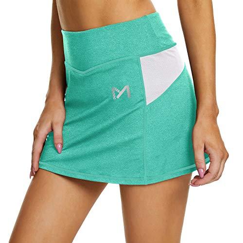 MEETYOO Donna Tennis Gonna Pantalone Vita Alta Skirts con Tasca Sport Golf Fitness