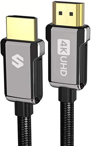 Cavo HDMI 2m/4K, Silkland Cavo HDMI 2.0 ad Alta Velocità 18Gbps Supporta 4K@60Hz, HDR, 3D, Ethernet, Audio Return - Cavo HDMI Nylon Intrecciato per Monitor, TV UHD, Blu-ray, PS4, PS3, Xbox, Proiettore