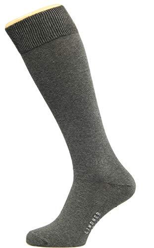 Max Lindner 5 Paar Hochwertige Kniestrümpfe Socken Qualität seit 1921 (45-47, grau)