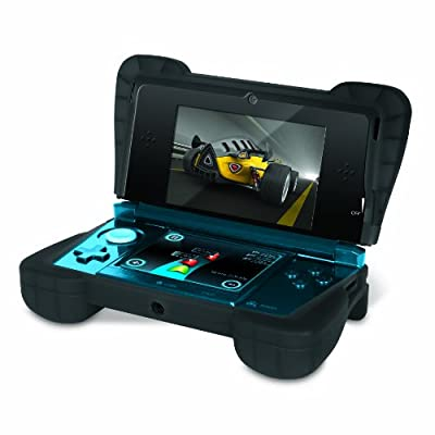 Comfort Grip for Original 3DS (Not the ?NEW? version) ? Silicone Protective Cover Gives Your 3DS Armor - (Transparent Black)