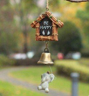 carillon Creativo appendere porta campana Totoro carino stile giapponese casa ornamenti porta tagliare Uccello casa elegante