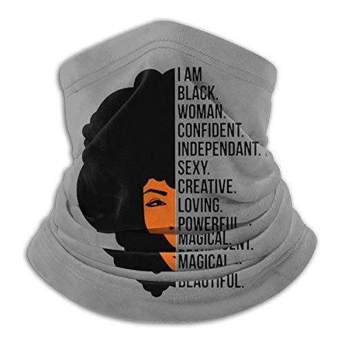 Pañuelo de pasamontañas Multifuncional para Mujer Negra, para Mujer, afroamericana, para Cubrir la Cara, para el Cuello