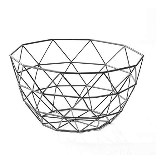 CESULIS Hierro forjado cesta de frutas cesta de frutas escritorio hueco de almacenamiento en rack simple nórdica Sala creativo cesta de frutas Exhibición de Frutas
