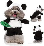 Disfraz de panda para perro, disfraz de panda de Halloween, para perros pequeños, medianos y pequeños, ropa de cachorro, disfraz de cosplay, accesorios de fiesta divertidos (mediano)