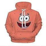 XXYQ Sweatshirt 3D Print Herren Damen Hoodies Sweatshirts Spongebob Cartoon Hoodie