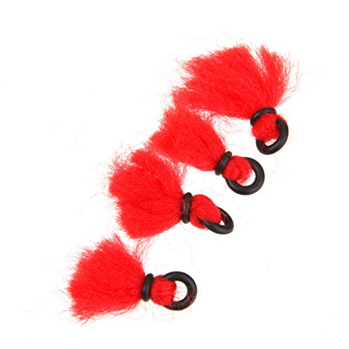4pcs Nylon Bissanzeiger Schwimmen Angelzubehör Fliegen - Rot