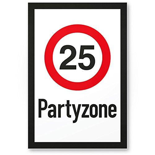 Bedankt! 25 partyzones, kunststof bord, cadeau 25, verjaardag, cadeau-idee verjaardagscadeau vijfentige, verjaardagsdecoratie, feestaccessoires, verjaardagskaart