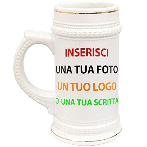 BrolloGroup Boccale Birra in Ceramica Personalizzabile PS 13514 Personalizzato con Foto O dediche