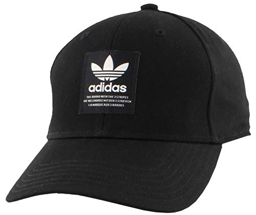 adidas Men's Originals TL Patch Snapback Cap, Black/Off White, One Size