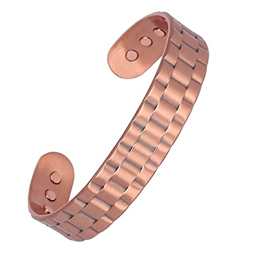 SeranaHealth Pure Copper Magnetic Bracelet Arthritis Pain Relief Magnet Therapy - Solid Shaded Pattern