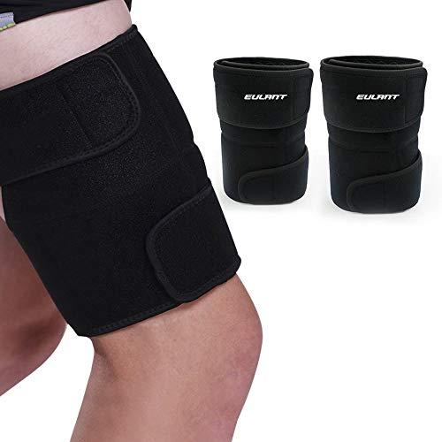 EULANT Oberschenkelbandage, Regulierbare Oberschenkel Bandage für Männer und Frauen, Hilfe für Tendinitis, Muskelverletzungen Reha und Erholung, Sciatic Nerv Schmerzlinderung, 1 Paar