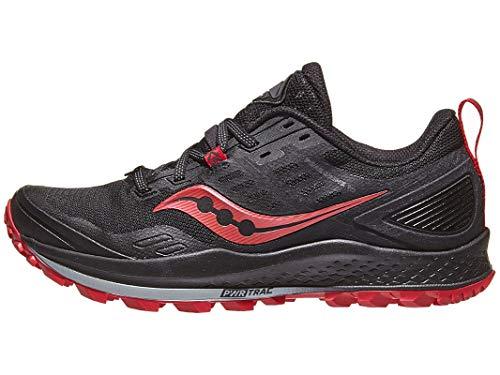 Saucony Women's Peregrine 10 Walking Shoe, Black | Barberry, 7.5 M US