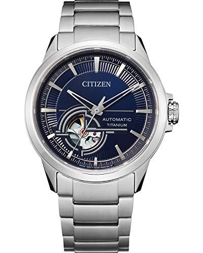 Citizen Reloj Analógico para Hombre de Automático con Correa en Titanio NH9120-88L