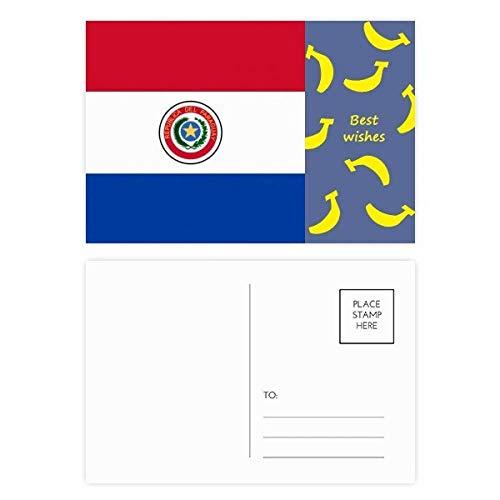 DIYthinker Paraguay NationalFlaggege Südamerika Land Banana Postkartenset dankt Karte Mailing Side 20pcs 5.7 Zoll x 3.8 Zoll Mehrfarbig