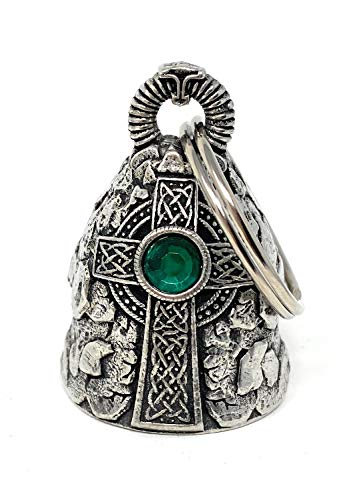 Bravo Bells Celtic Cross Diamond Bell - Biker Bell Accessory or Key Chain for Good Luck on The Road