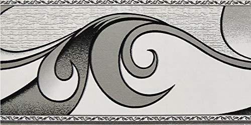 Dundee Deco BD5019 - Rotolo di carta da parati con motivo astratto, 10 m x 5 cm, autoadesivo, colore: grigio