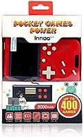 Innoo Tech Console de Jeux Rétro avec Fonction d'alimentation Mobile et Lampe de Poche, 5000 mAh, 400 Jeux FC Classiques,...