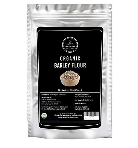 Naturevibe Botanicals Organic Barley Flour, 1lb | Non-GMO and Gluten Free | Rich Source of Fiber