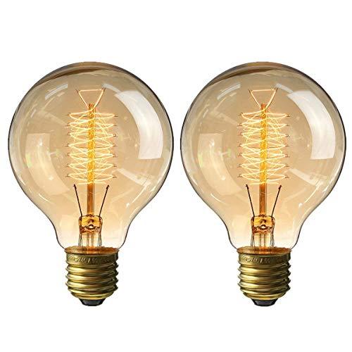 円形エジソン電球60W レフ電球 白熱電球 E26 110v 4個入 KINGSO エジソンバルブ フィラメント電球...