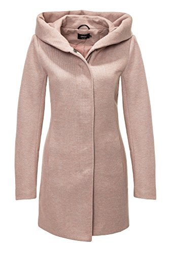 ONLY Damen onlSEDONA Light Melange Coat CC OTW Mantel, Braun (Mocha Mousse Detail:Melange), 42 (Herstellergröße: XL)