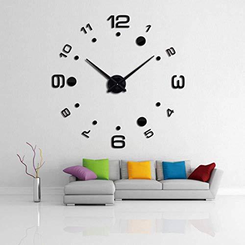 Stijlvolle DIY 3D-wandklok design acryl spiegel klok Europese sticker grote decoratie huis klok aan de muur hangen.