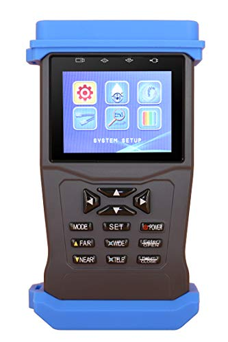 CCTV Tester, Security Camera Monitor for TVI CVI AHD Analogy Camera Test,Video Audio PTZ Control,5MP, RS485 UTP Security Tester Supply 12V /1A Output