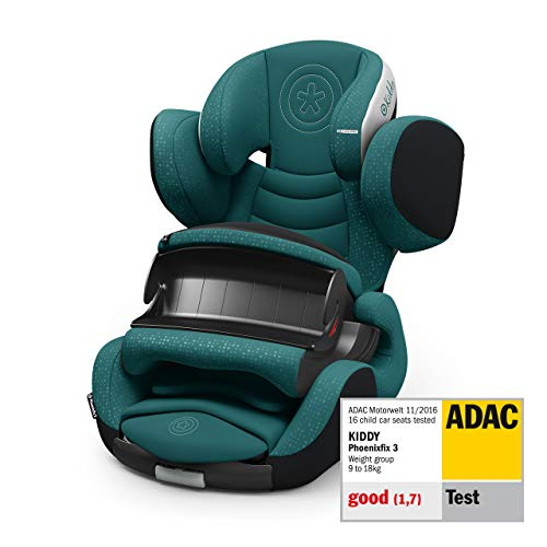 Kinderkraft Car seat Kiddy Phoenixfix 3 deep sea green - Baby, Unisex Infantil, Verde(green)