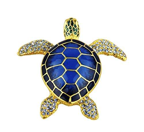 Jay Strongwater for Estee Lauder 2010 Super Rare Blue Turtle SWAROVSK (NO Perfume)