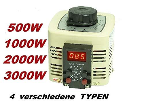 Regeltrafo Ringkerntransformator 230V 2000 Watt 8A Stelltrafo Spartrafo Ringkerntrafo Ringkern Transformator Trafo regelbar