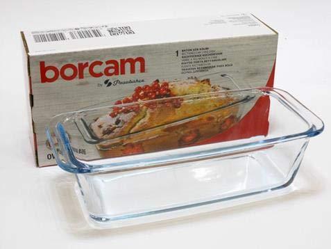Borcam, 59884, Cazuela para usar en el horno para diferentes platos, especialmente para pasteles y pan, Volumen: 1,12 l