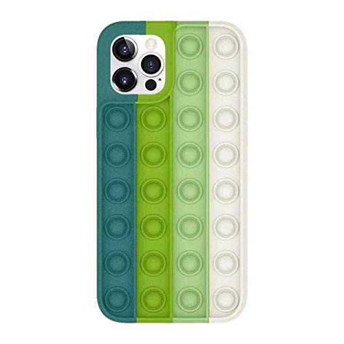 honghongshop Revivir estrés Pop Fidget Juguetes Empuje Burbuja Silicona Teléfono Caso Para Iphone 6 S 7 8 Plus X XR XS 11 12 Pro Max cubierta suave