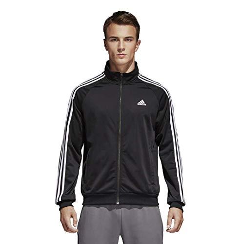adidas ESS 3S Ttop Tri Camiseta, Negro/Blanco, M para Hombre