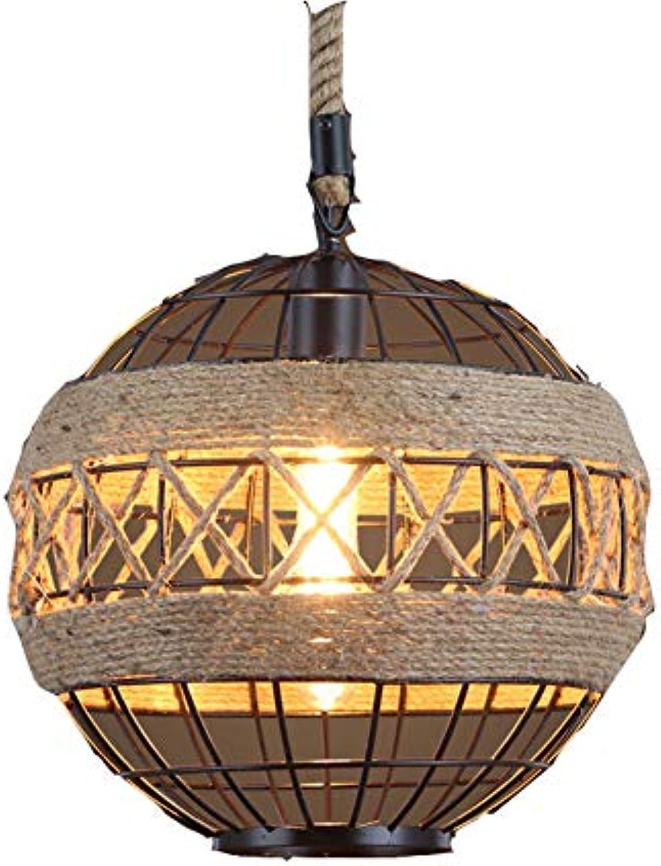 WETRR Rustikal Industrial Adjustable Cage Metal Pendant Chandelier für den Speisesaal Bad Schlafzimmer Wohnzimmer,30CM